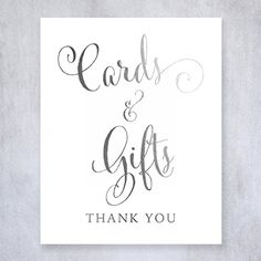 Decoration:Cards and Gifts Silver Foil Sign Wedding Reception Party Signage Calligraphy Art Print Modern Poster Decor 8 inches x 10 inches D35 -- Details can be found by clicking on the image.
