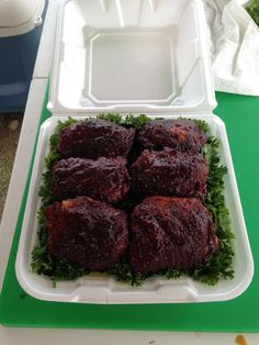 Bbq competition chicken turn in box