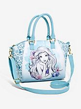 Loungefly Disney The Little Mermaid Blue Watercolor Satchel Bag, Alice In Wonderland Vintage, Pet Sematary, Best Friend Necklaces, Thing 1, Disney Jewelry, Cuff Earrings, Guys And Girls, The Little Mermaid, Satchel Bag