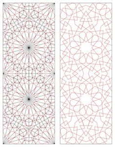 Analysis of Islamic Geometric designs