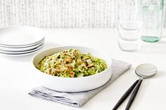Recipe: Shaved Brussels Sprouts with Sautéed Shallots — Sponsored by Bosch Home Appliances