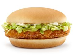 {McDonald's(tm) McChicken} The McChicken sandwich has perfectly crispy chicken with shredded iceberg lettuce and a SPECIALsauce on a toasted bun.  Enjoy these sandwiches for lunch, dinner or even a snack. – The Restaurant Recipe Blog