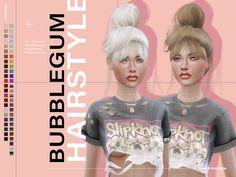 The Sims 4 LeahLillith Bubblegum Hairstyle Sims 4 Mods Clothes, Sims 4 Clothing, Sims Mods, Sims 4 Cas, Sims Cc, Sims 4 Black Hair, The Sims 4 Cabelos, Pelo Sims, Sims 4 Cc Packs