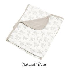Print Blanket in Natural Bikes - Kicky Pants. OF COURSE our baby needs a bike blanket!