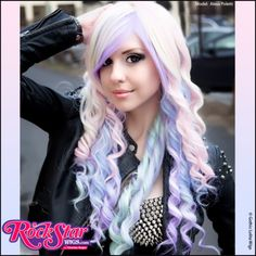 RockStar Wigs® <br> Rainbow Rock™ Collection - Hair Prism 2 (Pastel) Our Rainbow Rock Collection wigs are designed for multiple uses and suited for many different occasions. Created with customers who want to stand out in mind, each wig can easily cross over to lolita and other fun fashions.     #GLW #IAMDOLLUXE #wig #coolhair #hairfashion #style #hairstyle #beautiful #pretty #