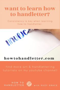 After handlettering for years, I've realized there are a few things that are key for learning how to handletter! Join me on YouTube as I show you 3 things you NEED to learn Modern Calligraphy and Handlettering with Suzy Grace. #handletterfornewbies #handletteringtutorials #handletteringprintables #handlettering #moderncalligraphy #calligraphy Calligraphy For Beginners, Calligraphy Tutorial, Hand Lettering Tutorial, Learn Calligraphy, Modern Calligraphy, Lettering Styles, Brush Lettering, Tombow Brush Pen, Improve Your Handwriting