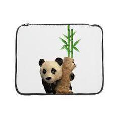 "15"" Laptop Sleeve> Panda> Jeanine's_Design"