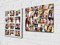 Fotocollage op Canvas. Veel foto's op 1 canvas aan de muur.