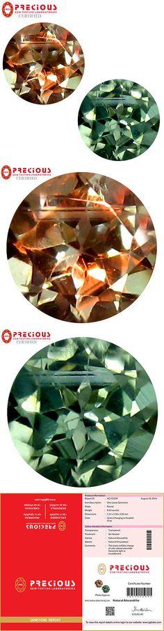 Alexandrite 10190: 0.63 Ct Pgtl Certified (5 X 5 Mm) Change From To Purplish Grey Alexandrite -> BUY IT NOW ONLY: $249.99 on eBay!