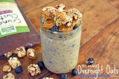 How To Make Overnight Oats | Vanilla Blueberry Overnight Oats | Now Foods Crunchy Clusters | Vegan | Gluten Free | Breakfast | Healthy Recipes | Oatmeal
