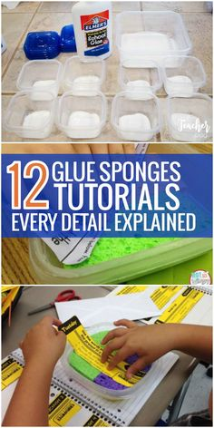 I like the tips in these 12 Glue Sponges Tutorials where Every Detail is Explained. This will totally work in my classroom next year!