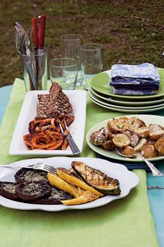Grilled and Marinated Zucchini and Yellow Squash by Bobby Flay