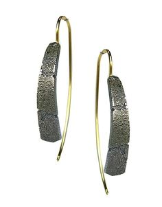 Oxidized Bedrock Blade Earrings by Jenny Reeves: Silver Earrings available at…