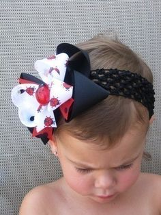 Funky Little Lady Bug Boutique Hair Bow by theprincessandme, $6.50