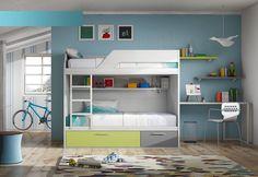 #DormitorioJuvenil   Cuando tus hijos llegan a determinada edad necesitan su propio espacio un lugar donde se puedan sentir cómodos para dormir pero también para estudiar o disfrutar de sus hobbies. Por eso es importante amueblar el dormitorio de acuerdo a su gusto.