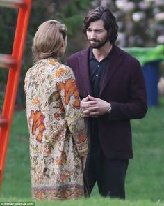 Loved up: Game Of Thrones' Michiel Huisman plays Blake's love interest in the film