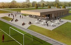 wasmeer Clubhouse Design, Soccer Academy, Soccer Stadium, Baseball Training, Outdoor Gym, Tennis Clubs, Sports Complex, Property Design, Pavilion