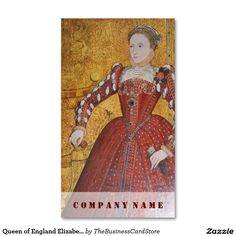 Queen of England Elizabeth I Double-Sided Standard Business Cards (Pack Of 100)