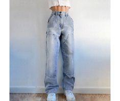 Trouser Jeans, Denim Pants, Women's Jeans, Cargo Pants Women, Pants For Women, Edgy Outfits, Fashion Outfits, Fall Pants, Patchwork Jeans