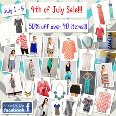 50% off 45 styles on the DAKOTA JACKSON BOUTIQUE Facebook pg.!!! LIKE us on Facebook.  Fast shipping!
