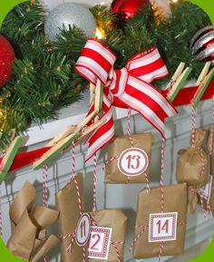 DIY Advent Countdown.  FREE PRINTABLE.