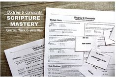 This is a SUPER VALUE package of scripture mastery quizzes, tests and activities.  The 75 page download will be available on your account on this store immediately after purchase!  Please see THIS ARTICLE to read more about this package.  What is in this package?  See below for more information.
