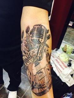 Fender Telecaster, Music = Life Tattoo, Martin Vaz.