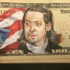 """This Artist Painted Lin-Manuel Miranda's """"Hamilton"""" On A Ten-Dollar Bill"""