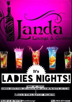 Ladies Night @ Landa Lounge & Cuisine, Guaynabo #sondeaquipr #ladiesnight #landaloungecuisine #guaynabo