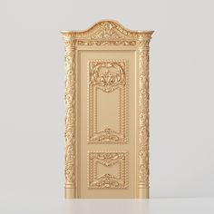 Classic carved door 3D model for production on CNC machines 3d Model Architecture, Door Design Interior, 3d Design, Geometry, Carving, Doors, Carved Door, Classic, Columns