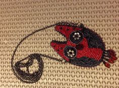 Hoot the Owl - bead embroidery, design by @pgething