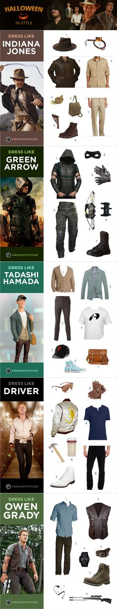 See how you can tranform yourself into the iconic Indiana Jones, Stephen Amell's portrayal of the Green Arrow, the dapper teenager Tadashi Hamada from Disney's Big Hero 6, Ryan Gosling's character from Drive, and Jurassic World's Owen Grady played by Chris Pratt.