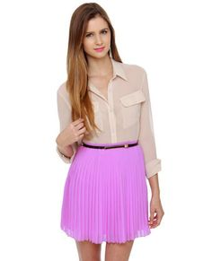 Pleated lavender skirt. chiffon. #socialbliss #onlinestore #fashion #style