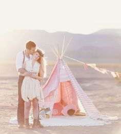look..this is the teepee I made for Blaise...you and Kamron could have a chic bohemian getaway in it.....