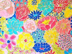 18 x 24 Flower Power Original Acrylic Painting, Evelyn Henson, www.etsy.com/shop/evelynhenson