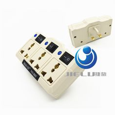 3 in1 White Universal US EU AU To UK Travel Wall 3Pin AC Power Charger Outlet Adapter Converter Socket With Switch,1 PCS