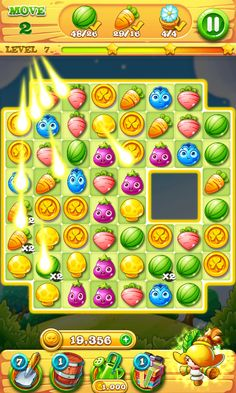 Garden Mania 2 by Ezijoy - ActionPhase Bonus Round - Match 3 Game - iOS Game - Android Game - UI - Game Interface - Game HUD - Game Art