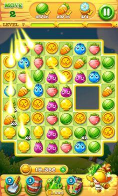 Garden Mania 2 by Ezijoy - ActionPhase Bonus Round - Match 3 Game - iOS Game - Android Game - UI - Game Interface - Game HUD - Game Art