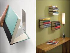 estantería para libros original ►http://trucosyastucias.com/decorar-reciclando  #manualidades #crafts #diy #cuadros #frames #upcycle #books