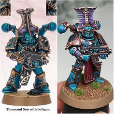 876 отметок «Нравится», 25 комментариев — Martin Peterson (@drinkthepaint) в Instagram: «I've always liked the colour scheme on this Thousand Sons marine from an older CSM codex, so I…»