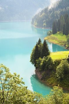Turquoise, Lake Sauris, Friuli, Italy  photo via xeima