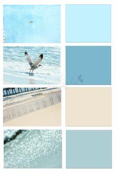 Seashore color palettes beach color palette home dec in 2019 Beach Color Schemes, Beach Color Palettes, Paint Color Palettes, Paint Color Schemes, Beach Bedroom Colors, Beach House Colors, Beach House Decor, Bedroom Beach, Bedroom Colour Palette