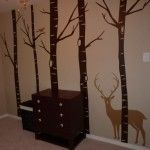 wall decal for hunting nursery love the trees!!