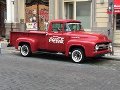 Coca cola truck in Prague.