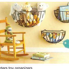 kids' rooms or playroom or both? melissasp Love this! kids' rooms or playroom or both? kids' rooms or playroom or both? Diy Toy Storage, Creative Storage, Kids Storage, Wall Storage, Playroom Storage, Storage Baskets, Nursery Storage, Teddy Storage, Book Storage