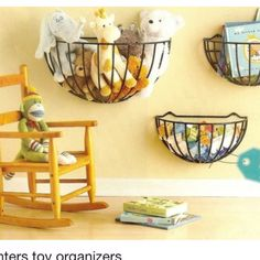 KMS: I'm thinking yarn.      Planter toy organizers