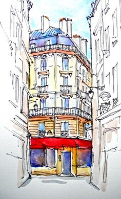 Sketchbook Wandering: To France & Back: Watercolor Drawings A Show