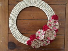 Simple, shabby chic and the perfect addition to your front door, mantle or any where! Add it to your grapevine or yarn wrapped wreath and its