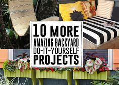 More outdoor DIY projects that everyone will love to build or make! From adorable window boxes to arbors, patio ponds and day beds! Check out all these fantastic DIY backyard projects!