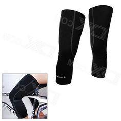 Nuckily KE001 Cycling Protective Polyester Warm Kneecap - Black (Size Xxl / Pair)